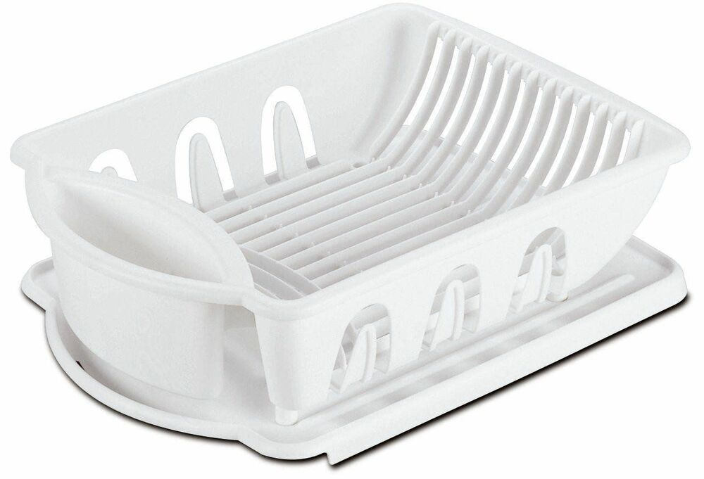 Sterlite Medium Size Sink Dish Rack Drainer White Ebay