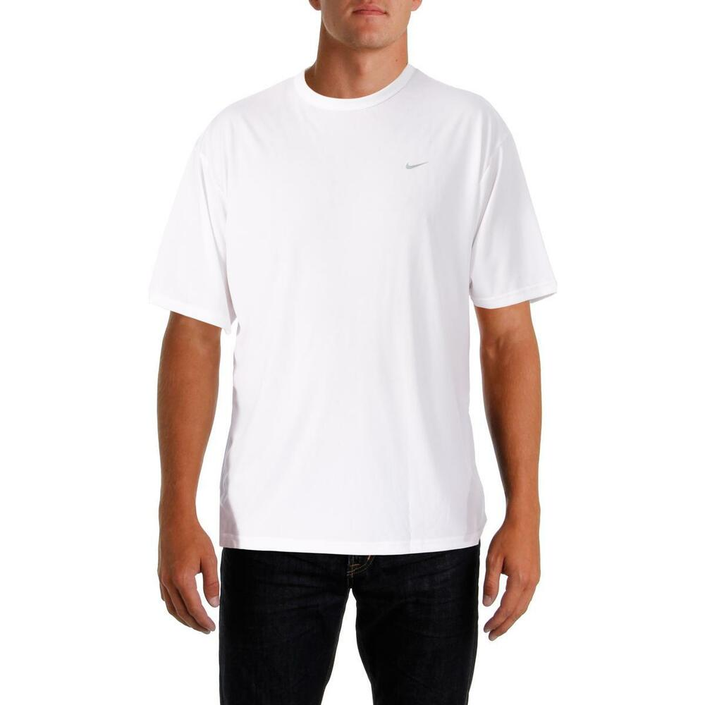 Nike 9571 Mens White Stay Dry Short Sleeves Athletic T