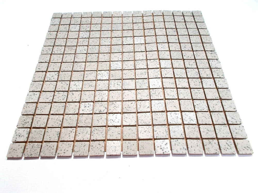 20mm Unglazed Porcelain Mosaic 225 Tile Sheet, Speckled