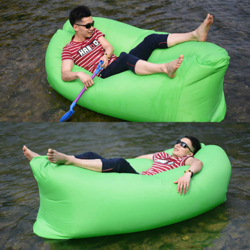 Inflatable Sofa Air Bed Lounger: Inflatable Sofa Air Bed Chair Seat Blow Up Lounger Bag
