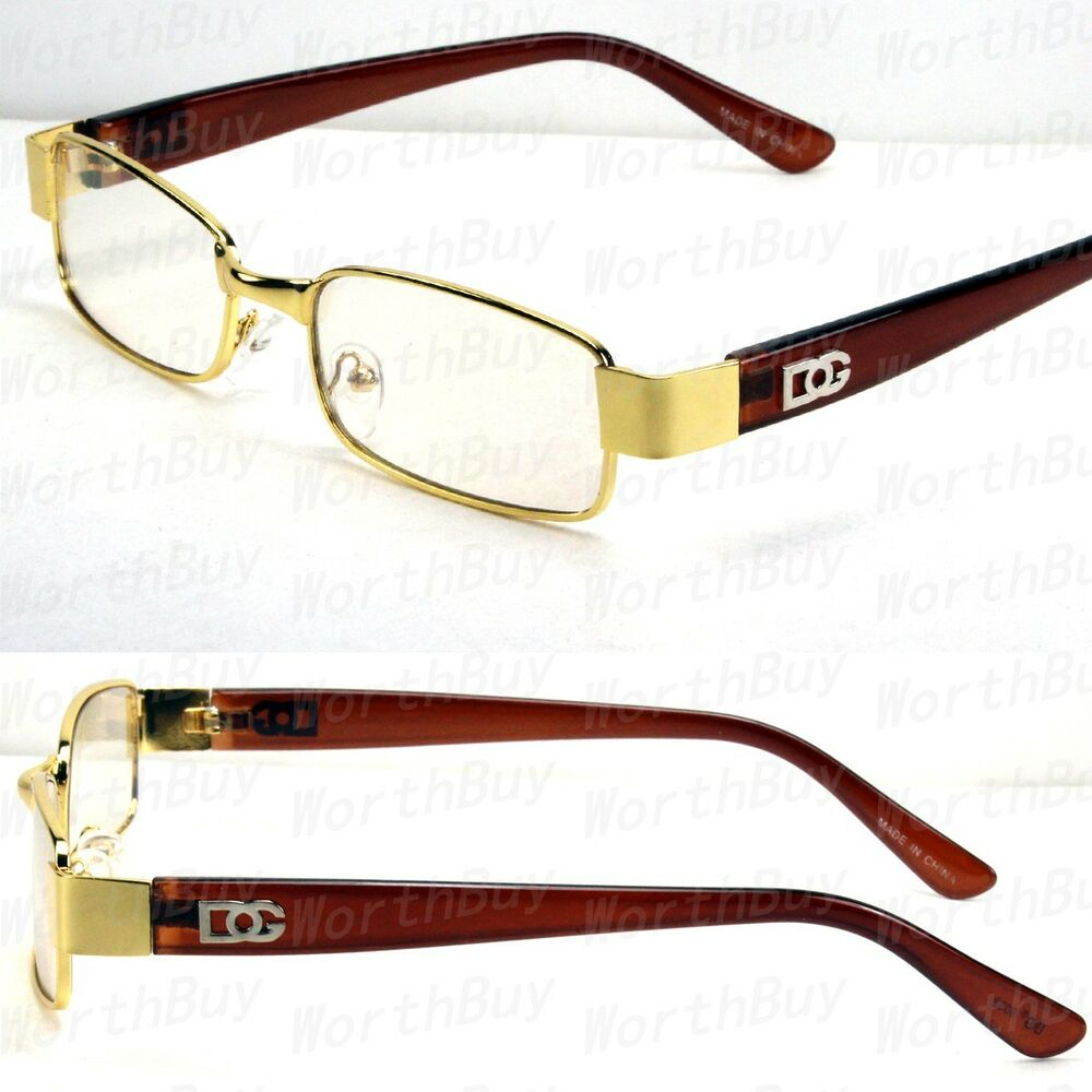 New Mens Womens DG Eyewear Clear Lens Frame Glasses ...