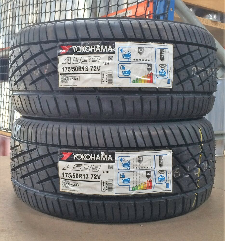 175 50 13 yokohama a539 72v tyres x2 pair 1755013 x2 brand new 13 inch tyres ebay. Black Bedroom Furniture Sets. Home Design Ideas