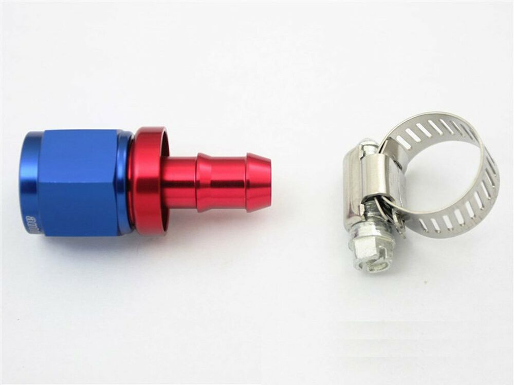 An push on hose end car performance fittings to barb