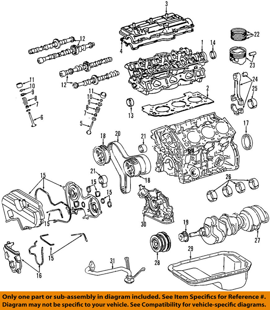 3vze Engine Diagram Wiring Library Cylinder Toyota Oem Tacoma Head Gasket Ebay Com Lifter Ford Exploded View