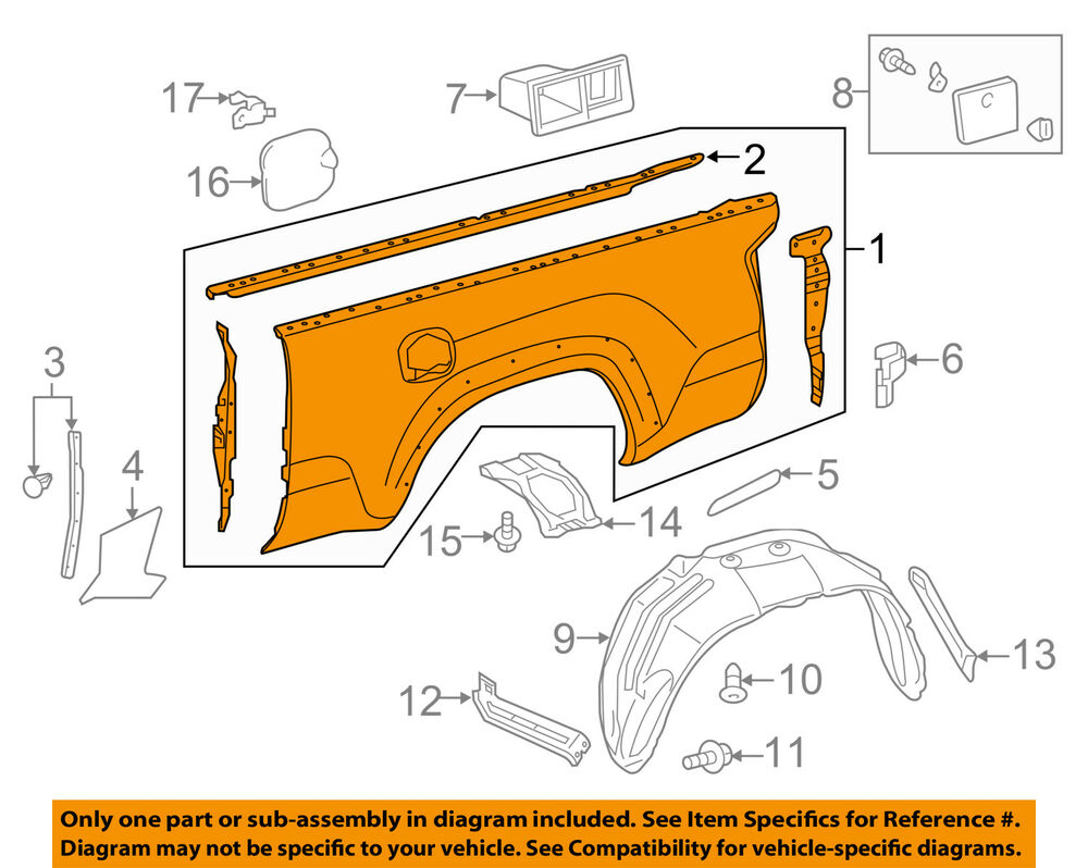 Truck Rear Bed Panel