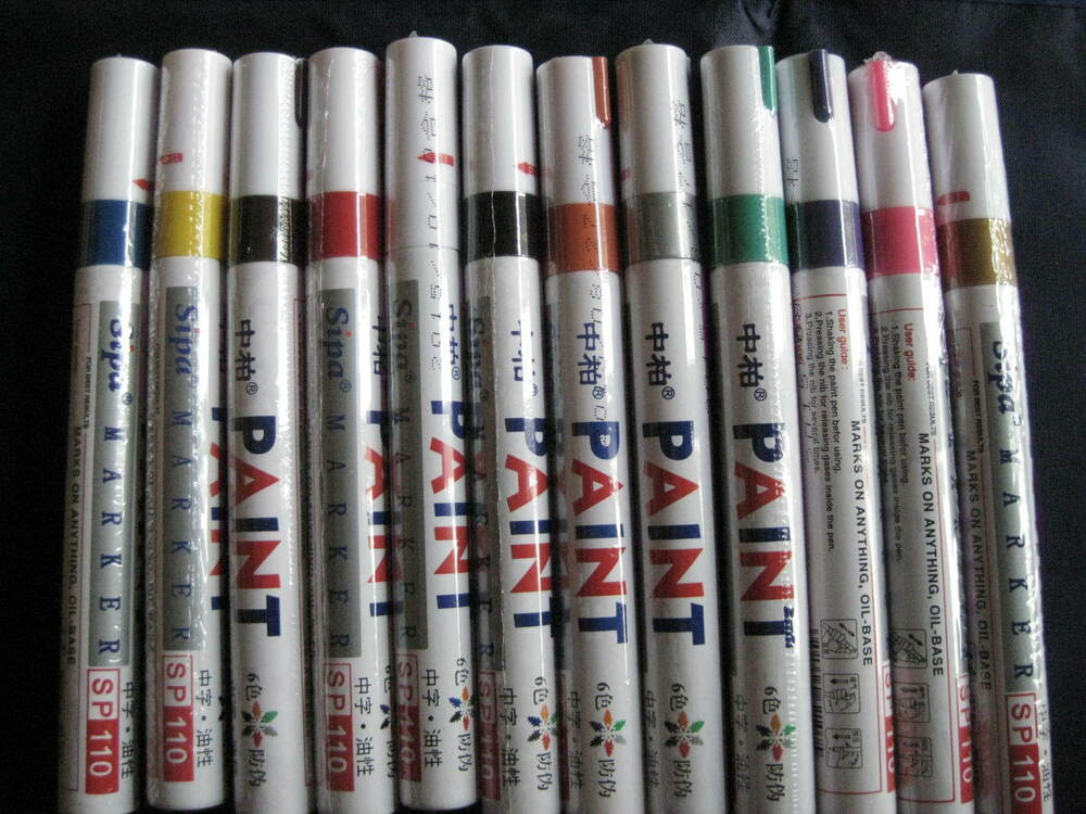 Paint markers oil based set of 12 colors fine oil for Paint pens for wood crafts