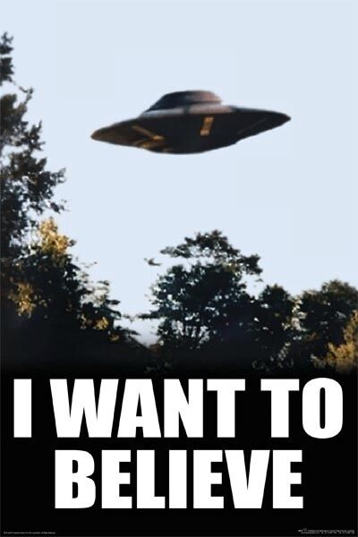 (LAMINATED) I WANT TO BELIEVE - X-FILES UFO POSTER ...X Files I Want To Believe
