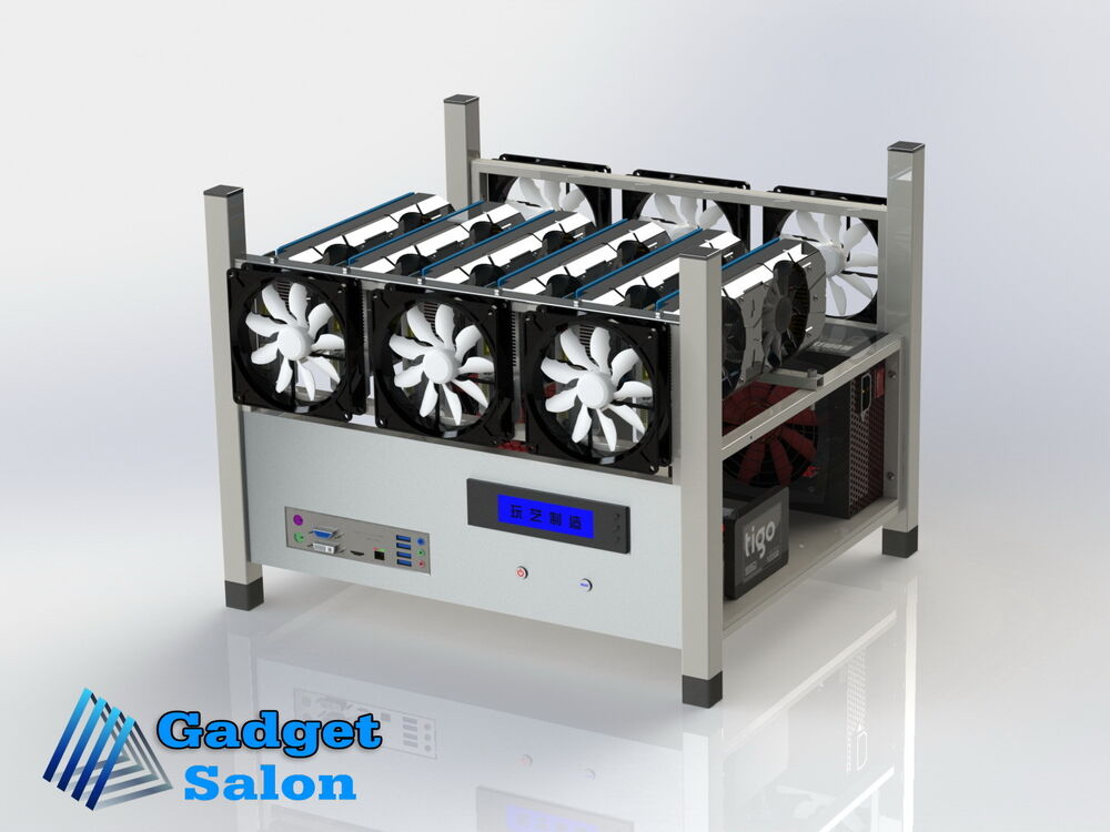 6 Gpu Open Air Mining Case Computer Eth Miner Frame Rig 6x