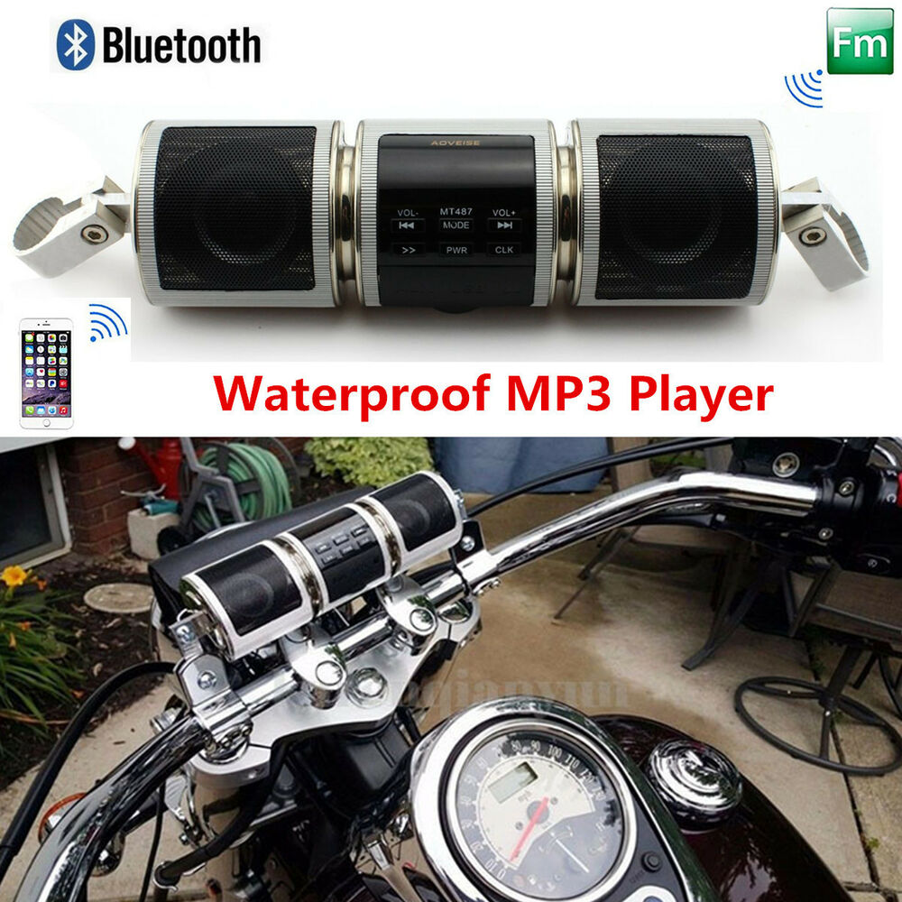 Waterproof motorcycle audio system bluetooth mp3 player fm - Waterproof sound system for bathroom ...