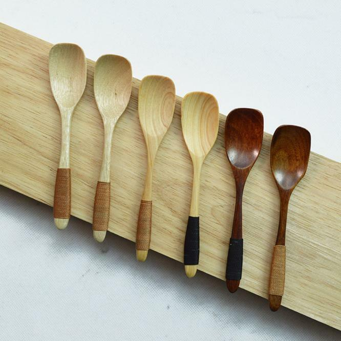 Wooden Spoon Bamboo Kitchen Cooking Utensil Tool Soup