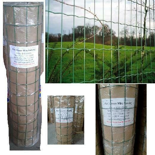 Pvc Green Coated Garden Mesh Wire Fence Fencing 0 9 1 2 1