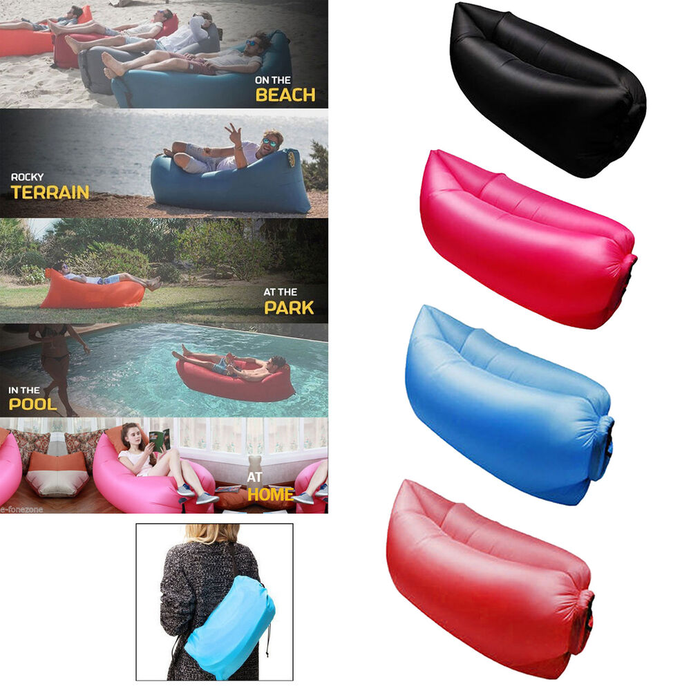easy inflatable air lounger sofa lazy beach festival blow. Black Bedroom Furniture Sets. Home Design Ideas
