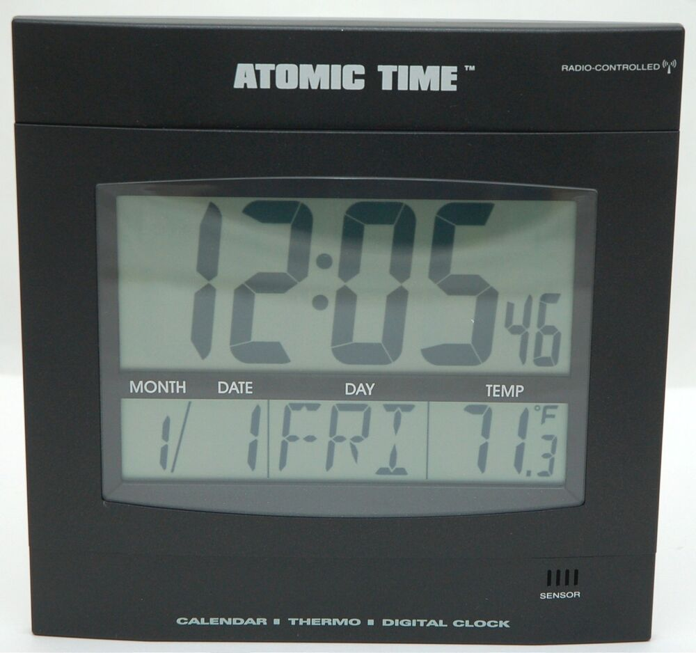 New Time Tech Digital Led Wall Clock Thermostat Day Date