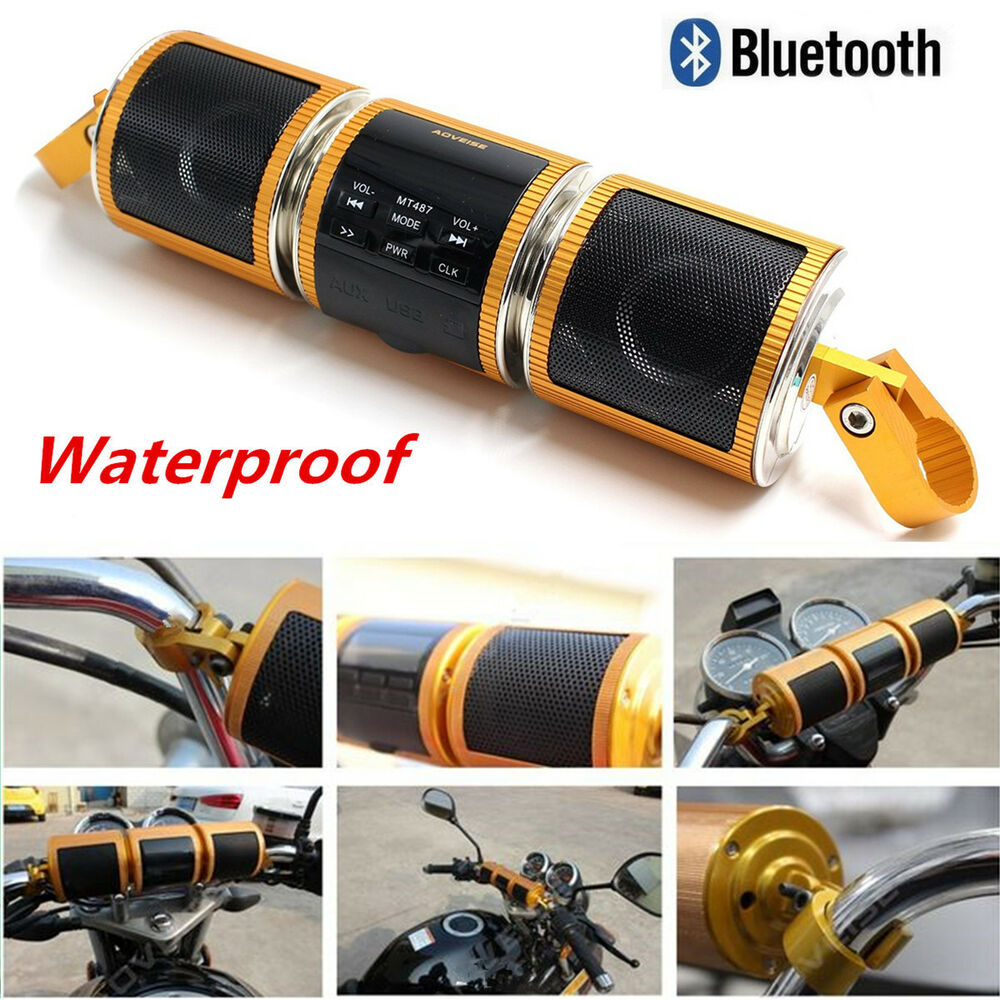 Waterproof motorcycle bluetooth audio radio sound system - Waterproof sound system for bathroom ...