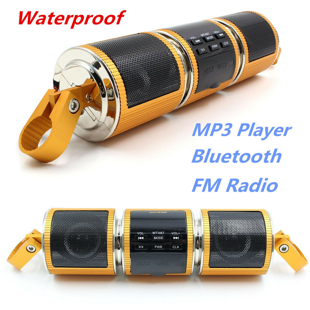 Motorcycle bluetooth audio radio sound system stereo - Waterproof sound system for bathroom ...