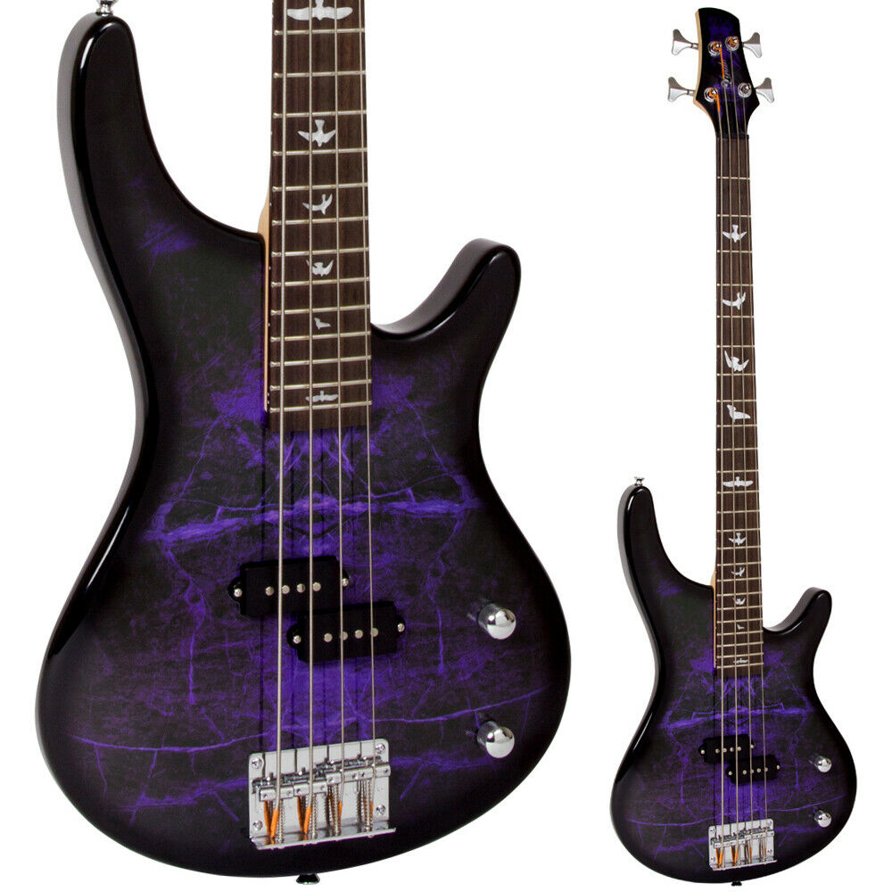 lindo purple dove electric bass guitar free gig bag and cable ebay. Black Bedroom Furniture Sets. Home Design Ideas