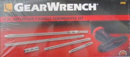 Gearwrench 8906 6pc Ratcheting T Handle Screwdriver Set