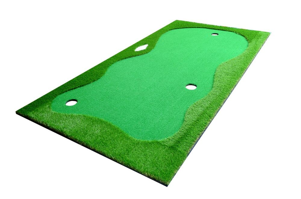 Professional Practice Golf Putting Green System Indoor Outdoor Training Mat 5x10 Ebay
