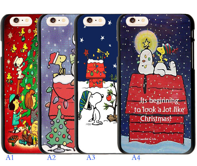 Cartoon Snoopy Christmas Xmas Quote Cover Case For Iphone