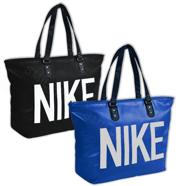 Details about Nike Mens Womens Ladies Large Tote Leather Look Handbag Bag  Gym Holiday Sports be2fa2e51095e
