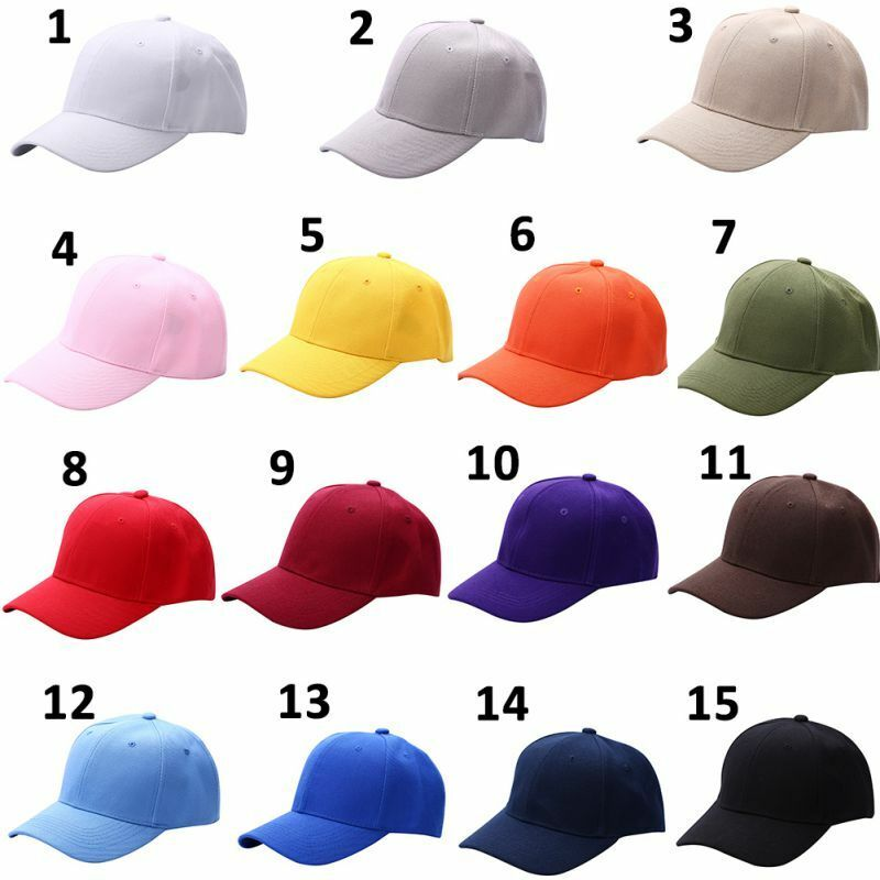 097ef1cc12b Details about Adjustable Baseball Army Cap Blank Plain Solid Sport Visor  Sun Golf ball Hat Men