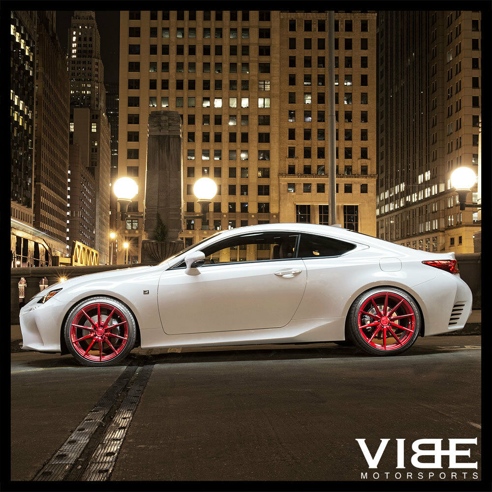 "20"" ROHANA RF1 RED FORGED CONCAVE WHEELS RIMS FITS LEXUS ..."