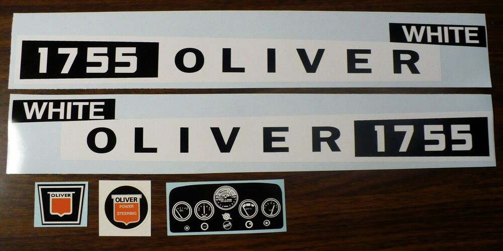 White Tractor Decals : Custom oliver white pedal tractor decal set ertl free