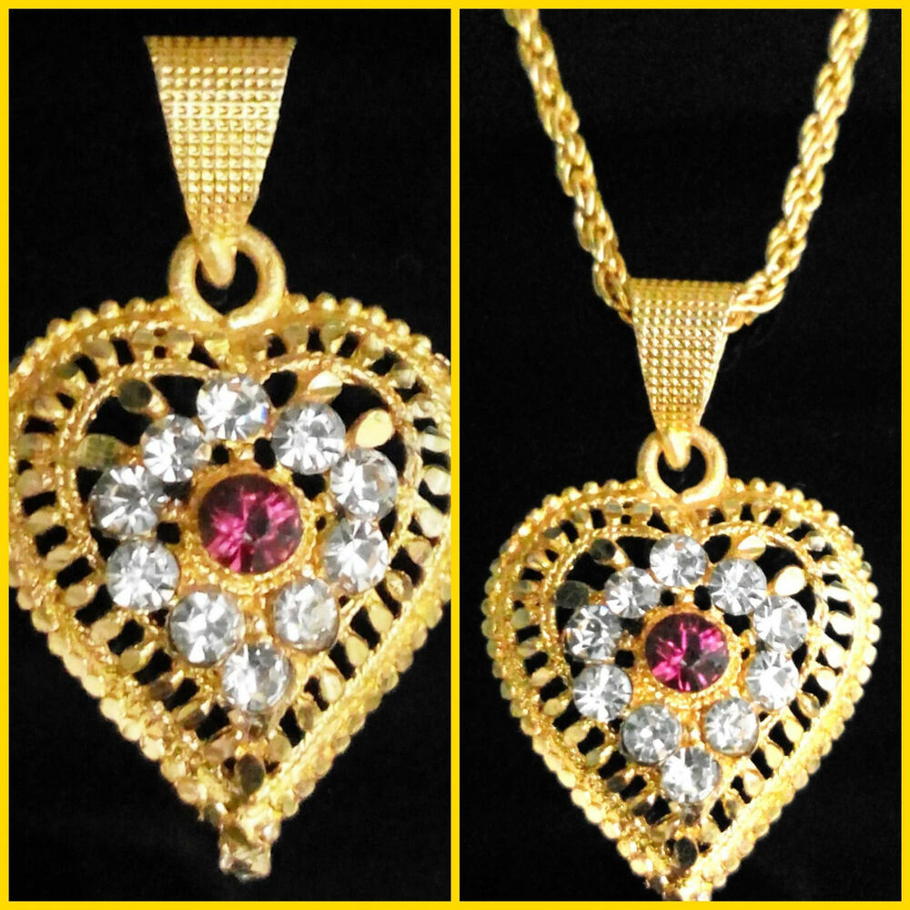 24K Gold Plated Indian Ethnic Traditional Chain Pendant ...