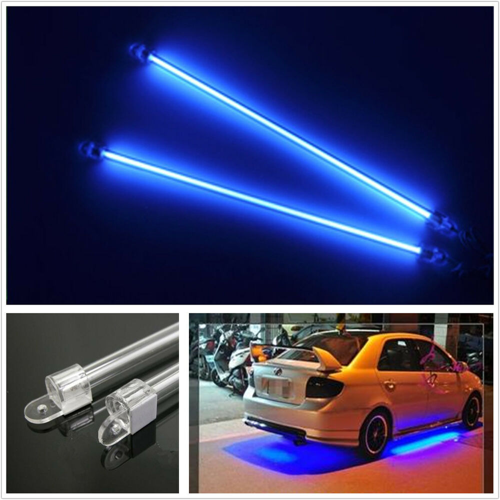 4xcar Motercycle Blue Undercar Underbody Neon Kit Lights