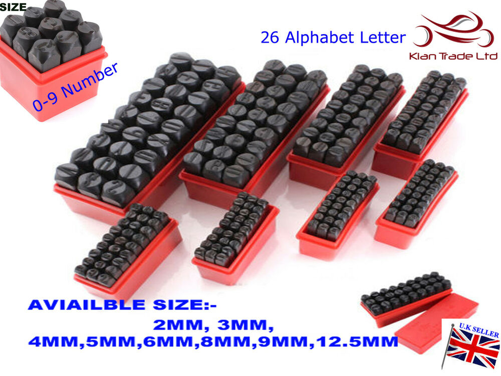 Stamps Letters Alphabet And Numbers Set Punch Steel Metal