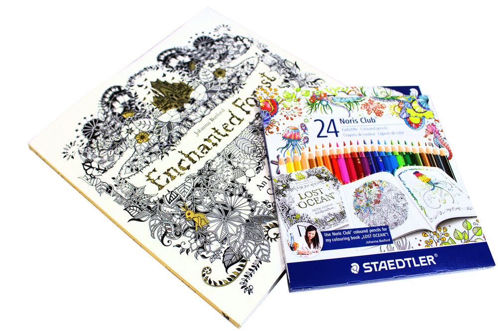 Enchanted Forest An Inky Treasure Hunt Colouring Book With