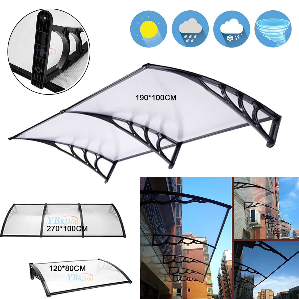 Outdoor Polycarbonate Front Door Window Awning Patio Cover