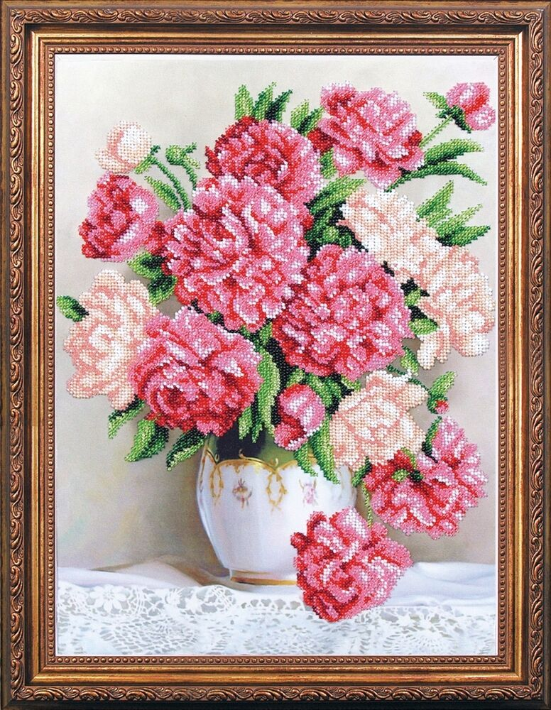 Bead embroidery kit magic canvas quot flawless fragrance ebay