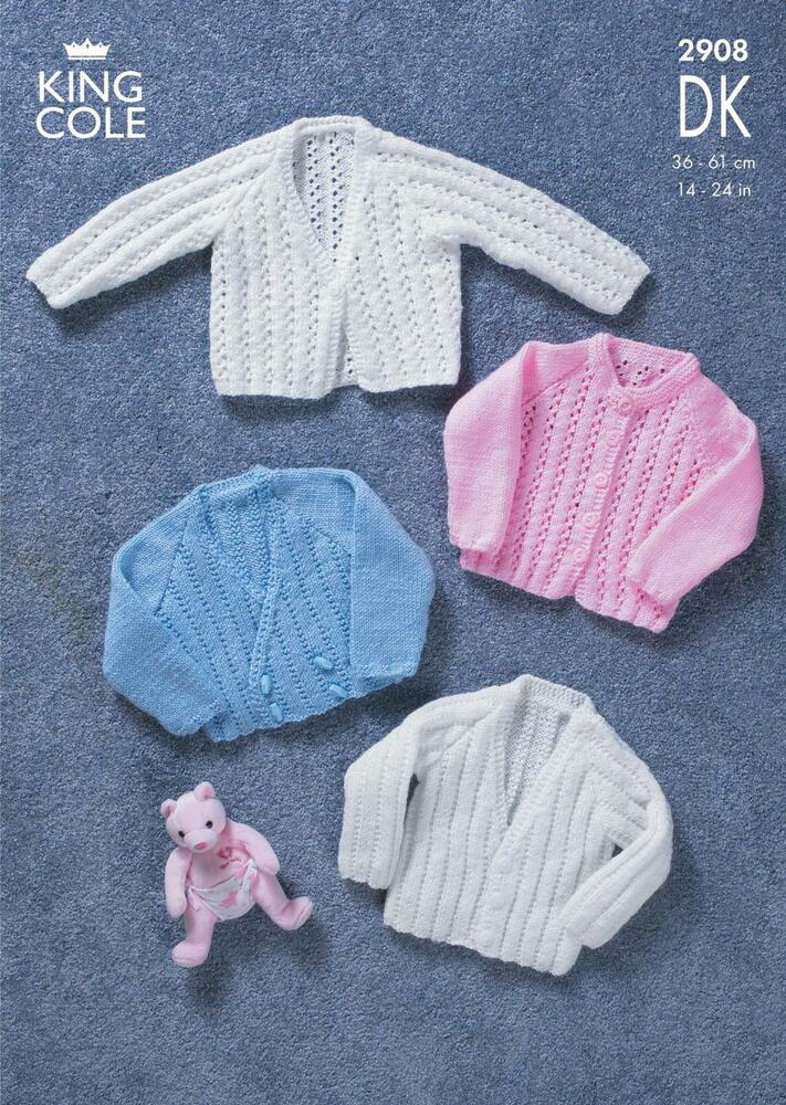 Knitting Pattern King Cole : King Cole 2908 Knitting Pattern Baby Cardigans in King ...