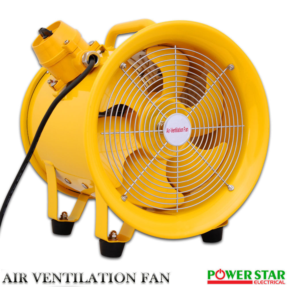 Portable Ventilation Fans : Atex portable ventilator axial blower extractor fan