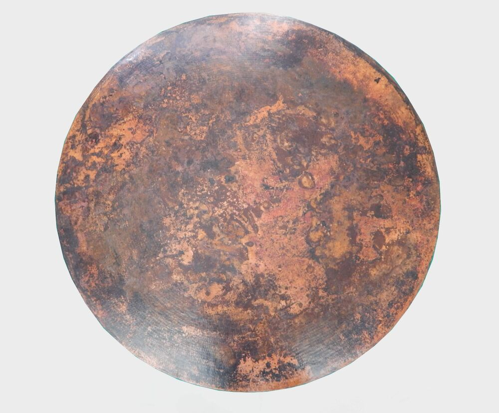 Mexican Round Copper Table Top Hand Hammered 36 Inches