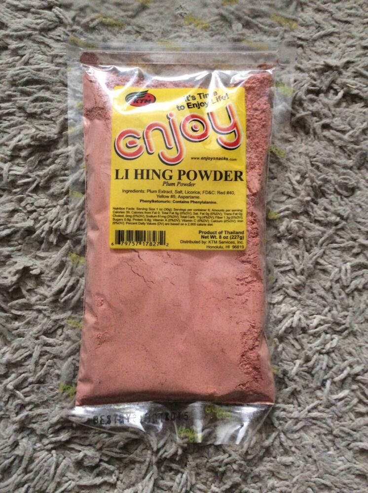 Enjoy Snacks Li Hing Mui Powder 1 2 Pound Bag Hawaii