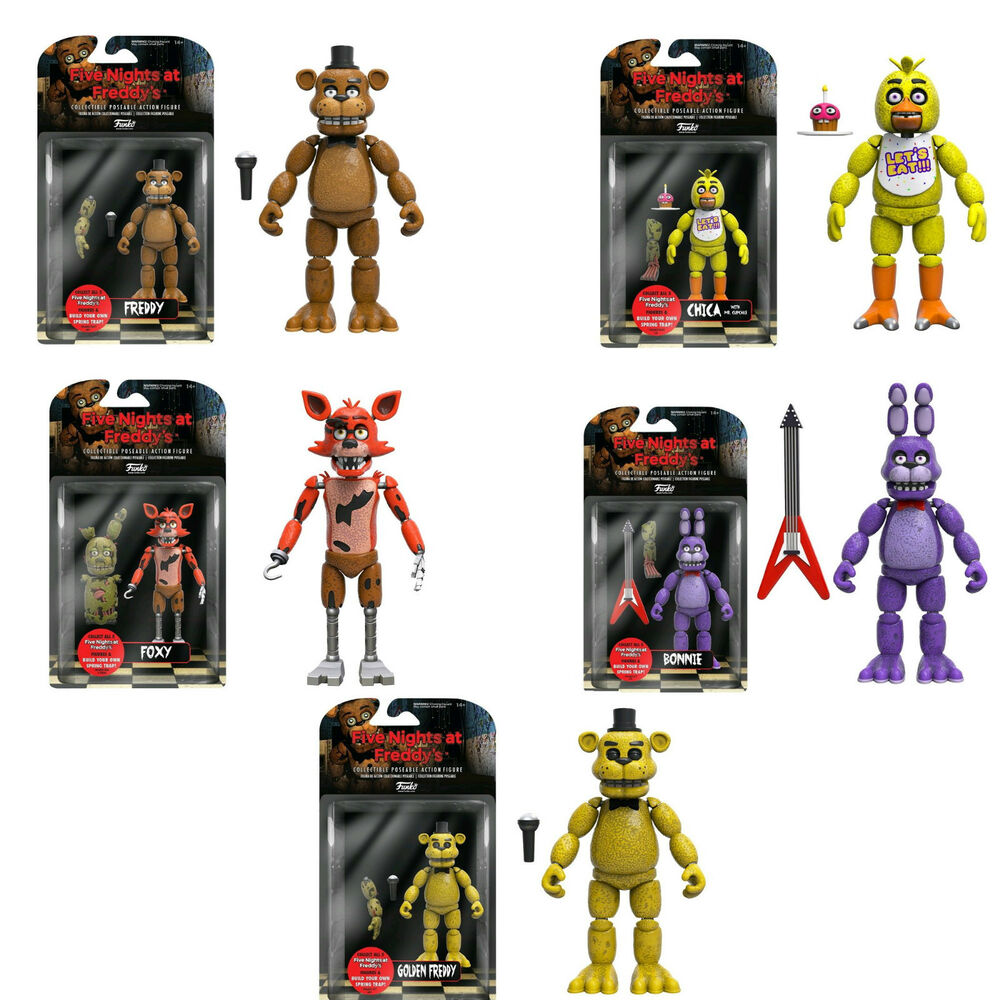 5 Nights At Freddy Toys : Complete set freddys five nights at freddy s