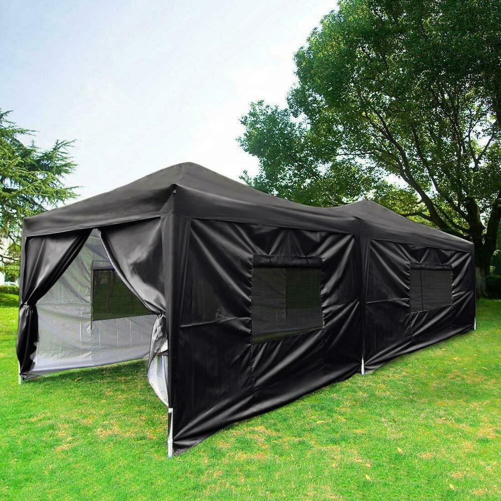 Quictent 10x20 Feet Black Screen Curtain Ez Pop Up Canopy