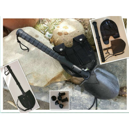 img-Survival Camping Hiking 3 in 1 Shovel Axe Saw-Emergency-Hunting Field Tool- FB08