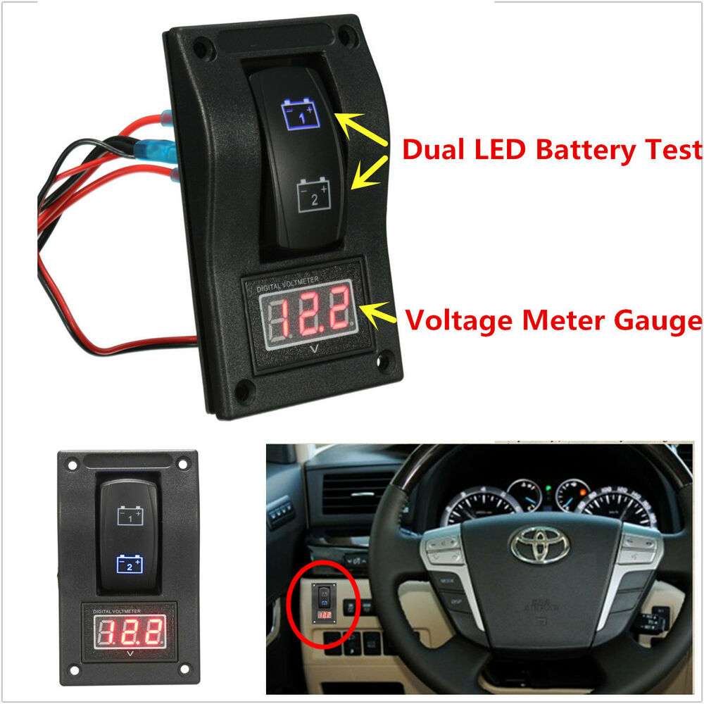 Battery Voltage Monitor : Marine dual led battery test switch panel voltage