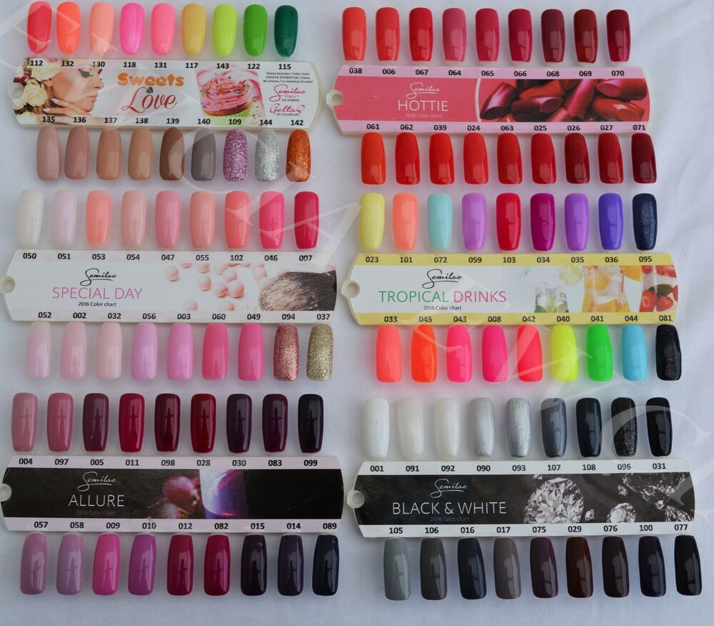 Semilac Hybrid Soak off Nail Polish Gel Top Base Colour ...
