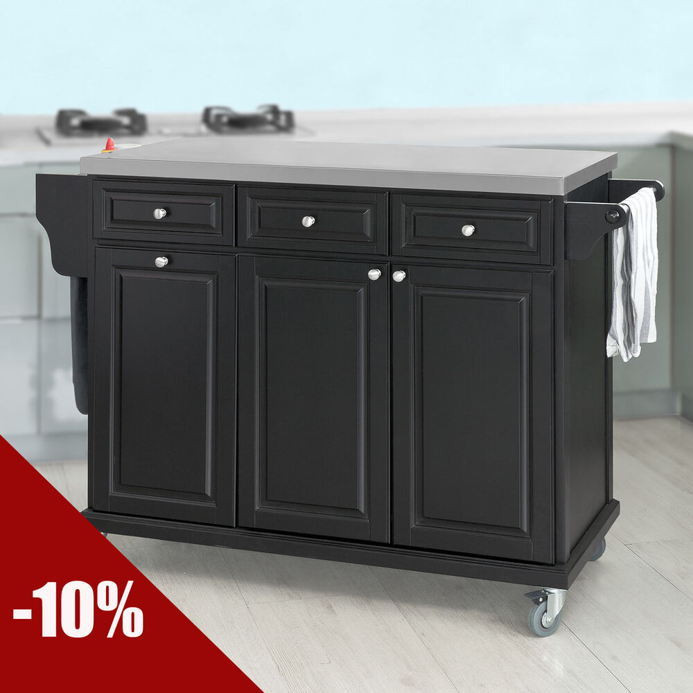 steel top kitchen island sobuy 174 luxury kitchen island storage cupboard stainless 22186