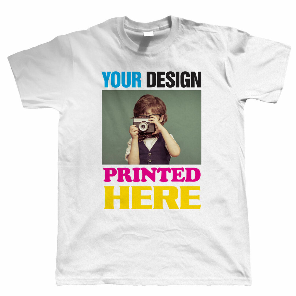 Custom t shirt printing personalised your image photo for Print my own t shirt design