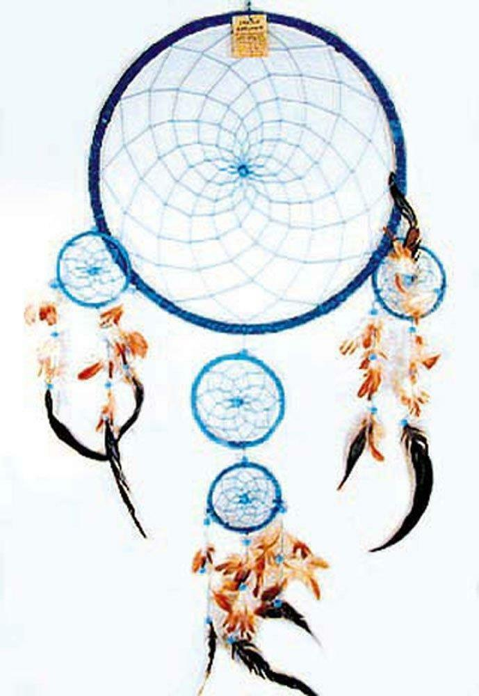 36 inch round turquoise blue huge dream catcher large for Dreamcatcher beads meaning