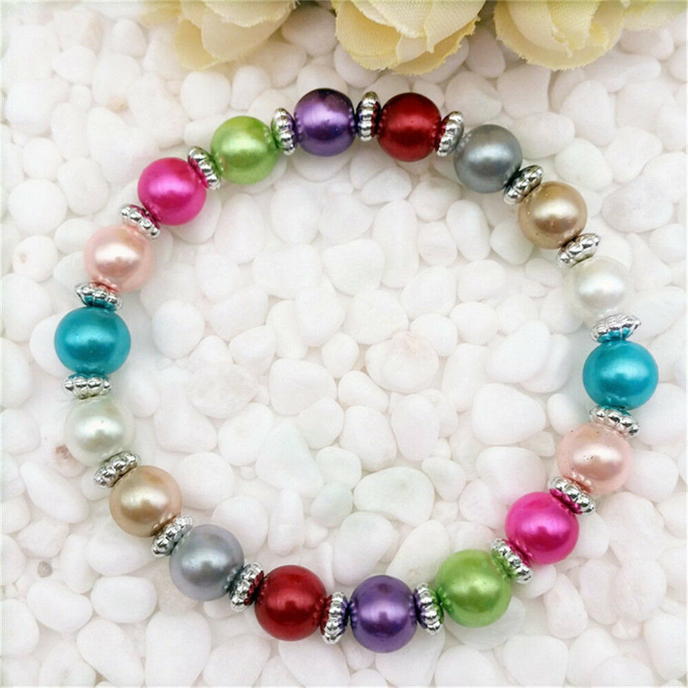 Pearl Beads: DIY Wholesale Fashion Jewelry 8mm Pearl Beads Stretch Mix