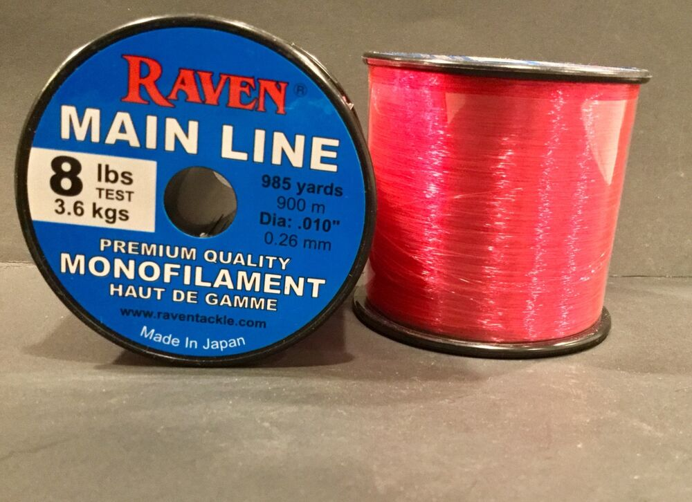 Raven premium monofilament fishing line fluorescent pink for Fluorescent fishing line
