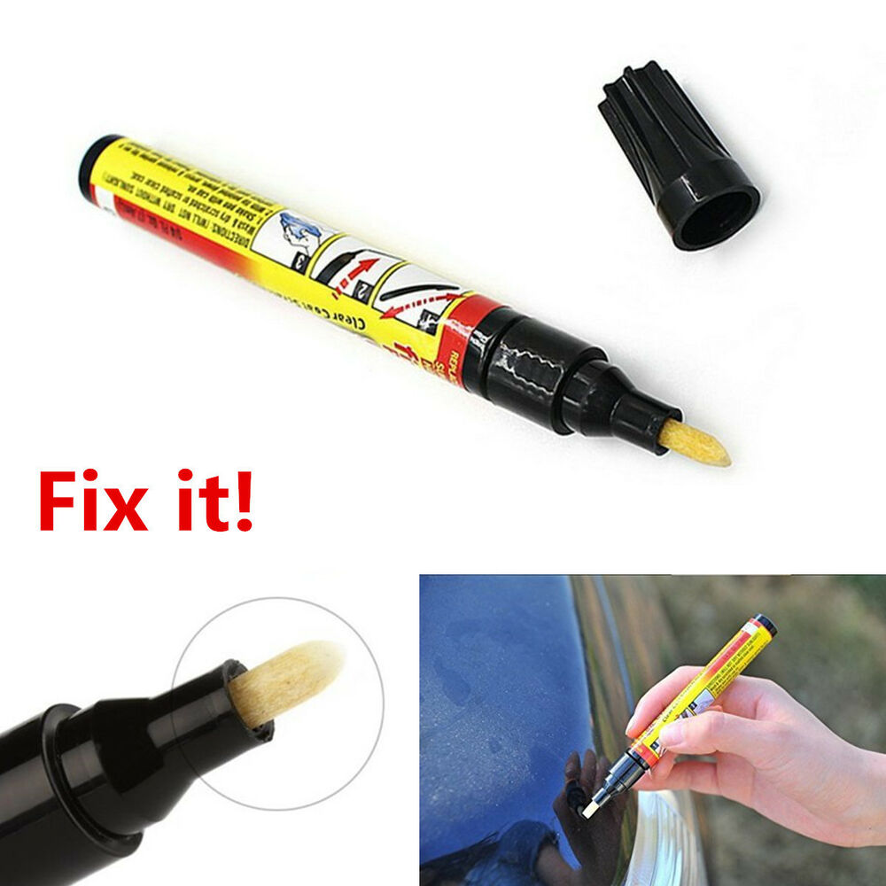 fix it pro car scratch repair remover pen touch up clear. Black Bedroom Furniture Sets. Home Design Ideas