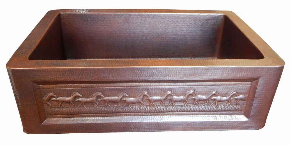 Apron Front Farmhouse Kitchen Mexican Copper Sink 33x22