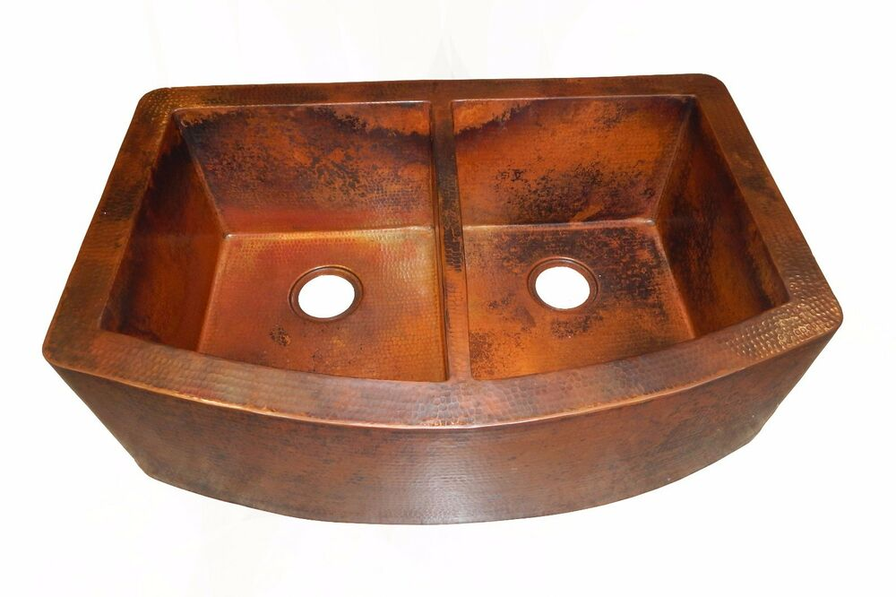 Rounded Apron Front Farmhouse Kitchen Double Bowl Mexican
